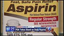 FDA: no aspirin to prevent first attack