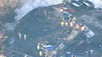 Flashback: Aerial video shows devastation after club fire