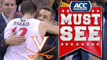 Virginia's Joe Harris Gets Emotional Standing Ovation Leaving Last Home Game | ACC Must See Moment