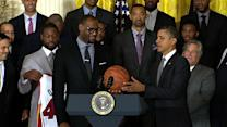 "Obama tells LeBron: ""It's your world, man"""