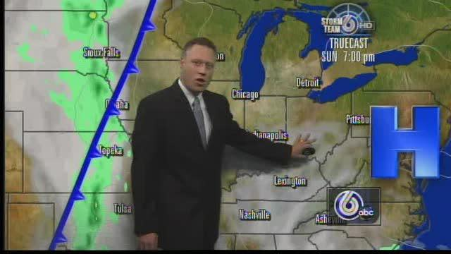 Above Average Temps Round Out Weekend