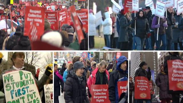 Ontario teachers walk out