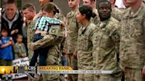 Toddler rushes to military mom, breaking protocol