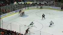 Silfverberg buries a dish from Cogliano