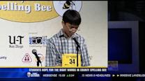 Students hope for the right words in county spelling bee