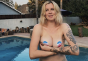 Ireland Baldwin uses 'I voted' stickers as pasties in topless photo urging people to vote