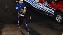 Hamlin wrecked while leading, collects Junior