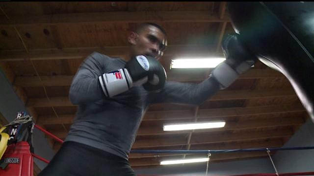 Local Make-Up Artist Trains Boxer