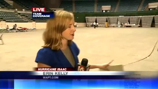 Isaac evacuees take shelter at Mississippi Coliseum