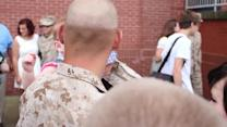 Marine meets baby boy for first time