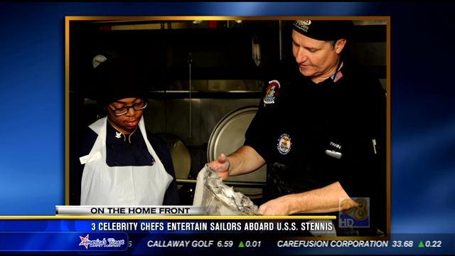 Celebrity chefs entertain sailors aboard USS Stennis