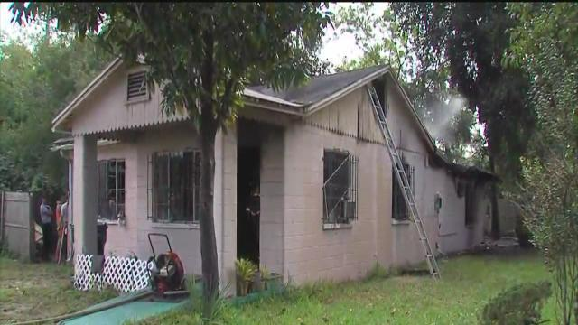 Crews work house fire in Ybor City