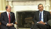 Obama hosts Burmese president at the White House