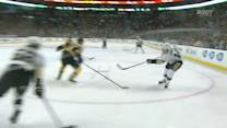 Chris Kunitz ricochets one in off Chara