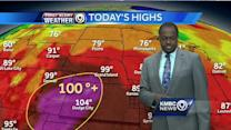 Summer settles in with high temperatures, pop-up storms