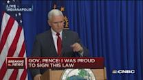 Gov. Pence: RFRA broadly supported