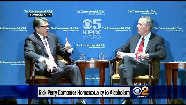 Texas Governor Rick Perry Equates Being Gay With Alcoholism