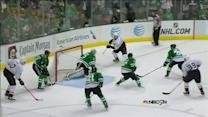 Nick Bonino flips one over Lehtonen