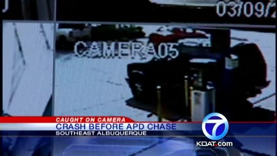 Surveillance Video Before APD Chase