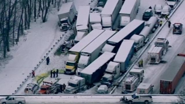 Massive pileup kills at least one