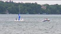 Winds Capsize Sailboats During Lake Minnetonka Race