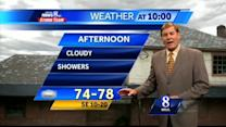 Showers to develop Thursday afternoon