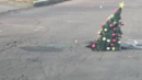 Wilkes-Barre, Pennsylvania, residents use Christmas spirit to bring attention to large pothole