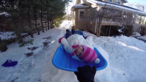 Awesome dad builds luge track in his backyard