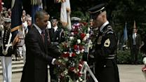 Raw: Obama Lays Arlington Wreath