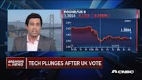 Tech plunges after UK vote