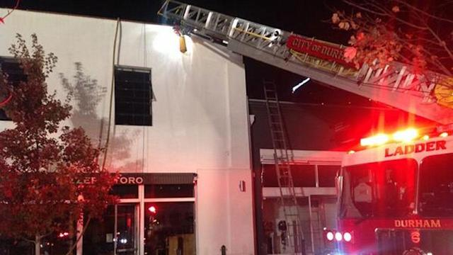 Raw video of fire in downtown Durham