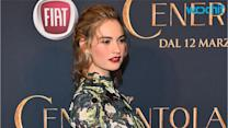 "Lily James Went on a ""Liquid Diet"" to Fit Into the Cinderella Corsets"