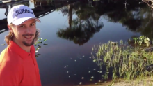Erik Karlsson gets terrified by alligator on golf course (Video)