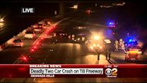 1 Dead In Fiery 2-Vehicle Crash On 118 Freeway In Granada Hills