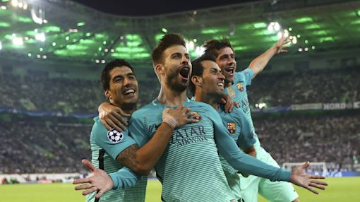 Barcelona comes back to beat Borussia Moenchengladbach in Champions League