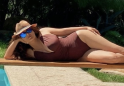 Salma Hayek posts jaw-dropping swimsuit photos taken 20 years apart