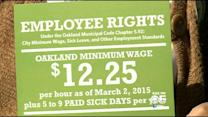 Mixed Feelings As Oakland's $12.25 Minimum Wage Law Approaches