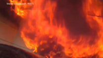 Firefighter's Helmetcam Gives Rare View of House Fire