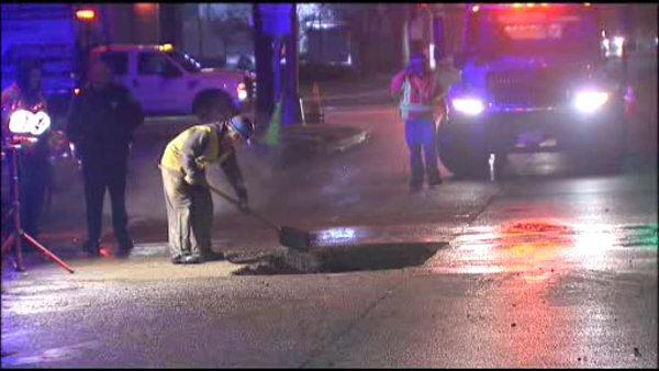 Crews repair water main break on Rt. 70 in Pennsauken