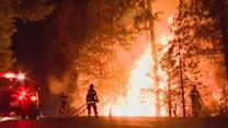 California wildfire threatens thousands of buildings