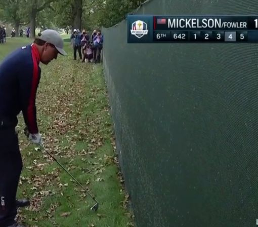 Phil Mickelson Forced to Hit Right-Handed in Opening Match of Ryder Cup