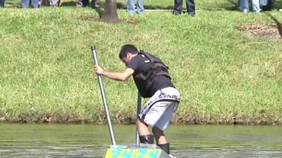 Raw: Fla. students design shoes to walk on water