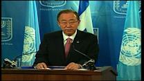 Ban Ki-moon: Continued military action will not ensure Israel's future safety