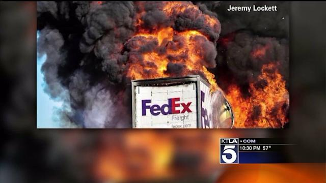NTSB: No Evidence That FedEx Truck Was on Fire Before Crash