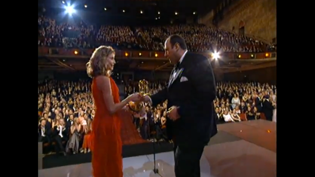 James Gandolfini wins Outstanding Actor in a Drama Emmy for 'The Sopranos'