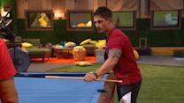 Big Brother - Caleb's Pool Table Trick - Live Feed Highlight