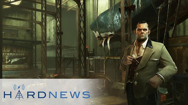 Dishonored gets DLC, Apollo Justice Arrives on Ace Attorney 5, and Bacon Guns - Hard News Clip