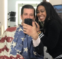 Donald Trump Jr. gets his makeup done in an American flag smock