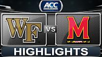 Wake Forest vs Maryland | 2014 ACC Basketball Highlights