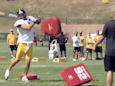 A funny video of Ben Roethlisberger shows that veterans don't always take training camp seriously